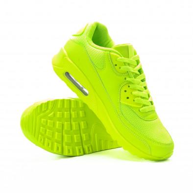 Ανδρικά πράσινα αθλητικά παπούτσια με αερόσολα it301118-1 4