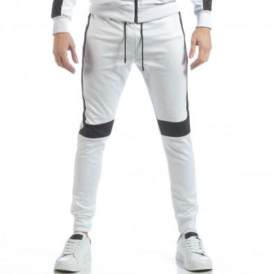 Ανδρικό αθλητικό σετ σε λευκό χρώμα ss-NB-17A-NB-17B 5