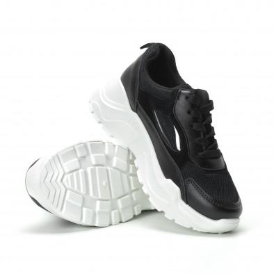 Γυναικεία μαύρα sneakers με πλατφόρμα it250119-68 5