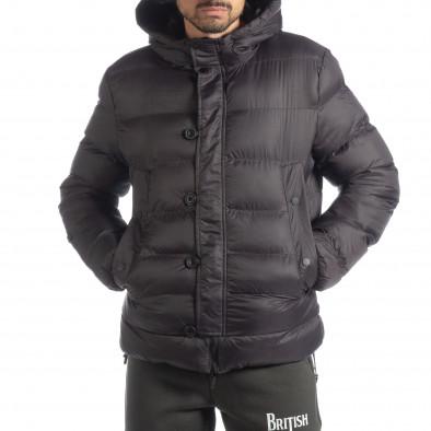 Ανδρικό σκούρο γκρι χειμερινό μπουφάν  it051218-68 3