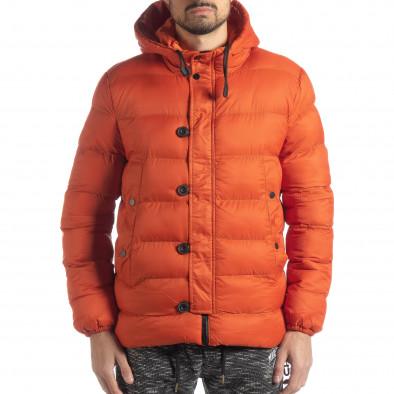 Ανδρικό πορτοκαλί χειμερινό μπουφάν  it051218-69 3