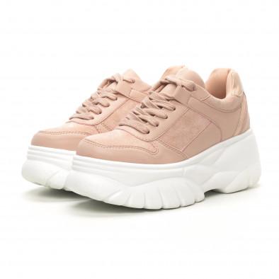 Γυναικεία ροζ sneakers Chunky it150419-121 3
