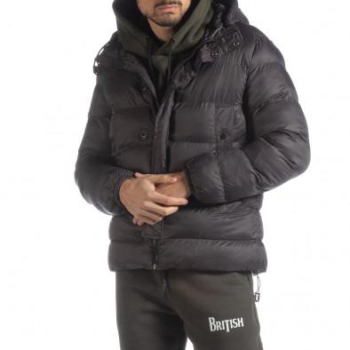 6a041022d39 Ανδρικό σκούρο γκρι χειμερινό μπουφάν it051218-68 - Fashionmix.gr