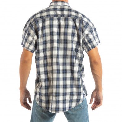 Ανδρικό γαλάζιο κοντομάνικο πουκάμισο RESERVED lp070818-128 3
