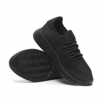 Ανδρικά μαύρα αθλητικά παπούτσια Mesh  it230519-6 4