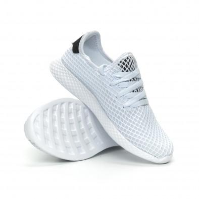 Γυναικεία λευκά sneakers Mesh ελαφρύ μοντέλο it150319-35 4