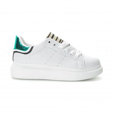 Γυναικεία λευκά sneakers με animal μοτίβα it270219-10 2