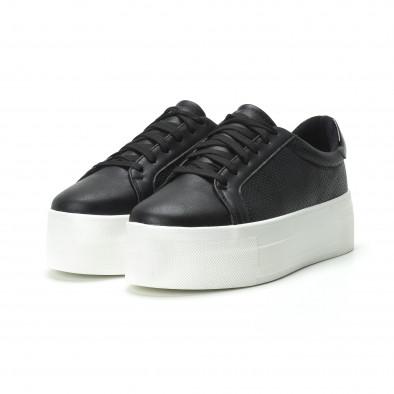 Γυναικεία μαύρα sneakers με πλατφόρμα it250119-41 3