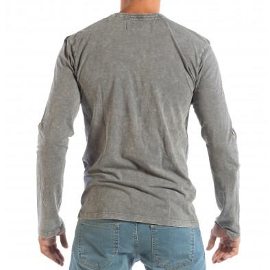 Ανδρική γκρι μπλούζα με κουμπιά House lp070818-21 4