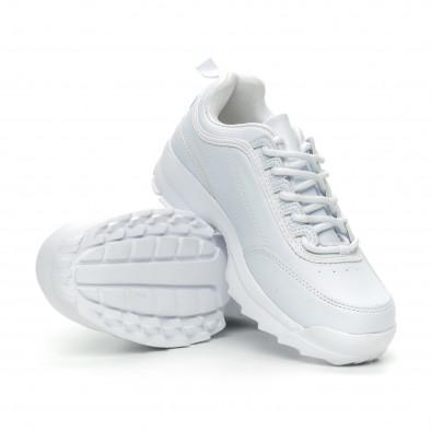 Γυναικεία λευκά αθλητικά παπούτσια Chunky it150319-52 4