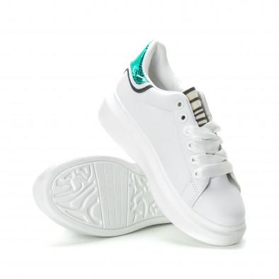 Γυναικεία λευκά sneakers με animal μοτίβα it270219-10 4