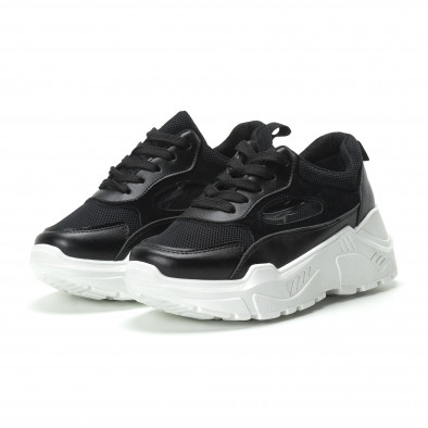 Γυναικεία μαύρα sneakers με πλατφόρμα it250119-68 4