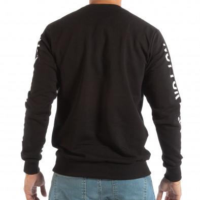Ανδρική μαύρη μπλούζα WHITE it240818-128 3