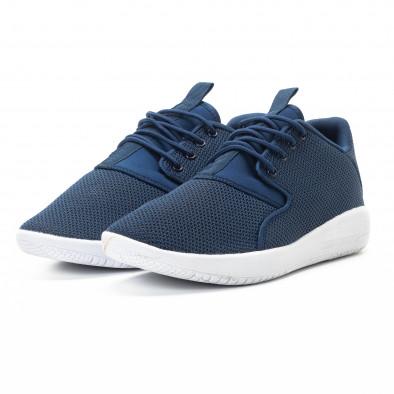 Ανδρικά μπλε αθλητικά παπούτσια ελαφρύ μοντέλο it301118-2 3