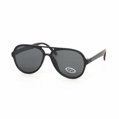 Ανδρικά μαύρα γυαλιά ηλίου πιλότου it030519-28 2
