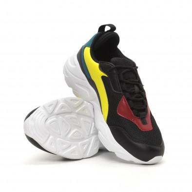 Ανδρικά μαύρα αθλητικά παπούτσια Chunky it150419-116 4