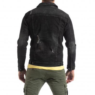 Ανδρικό μαύρο ανοιξιάτικο-φθινοπωρινό μπουφάν Justboy it210319-108 4