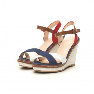 Γυναικείες πλατφόρμες σε γαλάζιο ,άσπρο και κόκκινο it050619-36 3