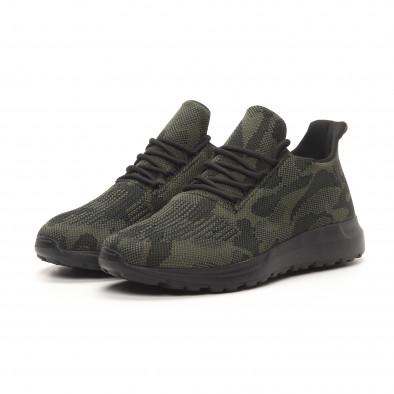 Ανδρικά πράσινα αθλητικά παπούτσια παραλλαγής it150419-120 3
