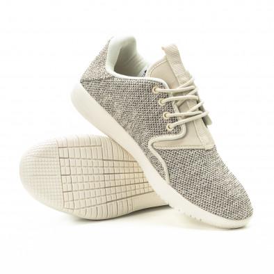 Ανδρικά μπεζ αθλητικά παπούτσια ελαφρύ μοντέλο it301118-3 4
