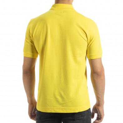 Ανδρική κίτρινη polo shirt Kappa regular fit it120619-21 4