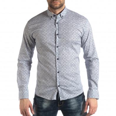 Ανδρικό λευκό πουκάμισο Baros it210319-91 2