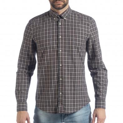 Ανδρικό καρέ πουκάμισο Slim fit Casual it040219-125 2