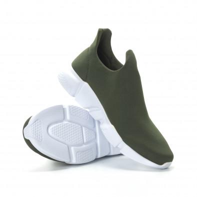 Ανδρικά πράσινα νεοπρέν αθλητικά παπούτσια Slip-on it270219-1 4