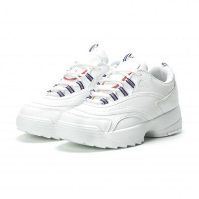 Γυναικεία λευκά sneakers με πλατφόρμα it250119-87 3