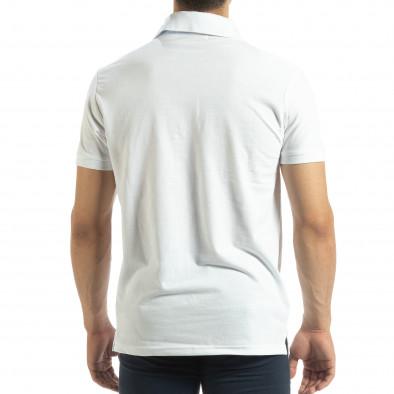 Ανδρική λευκή  polo shirt it120619-29 3