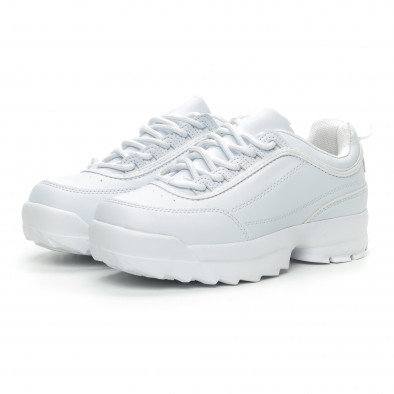 Γυναικεία λευκά αθλητικά παπούτσια Chunky it150319-52 3