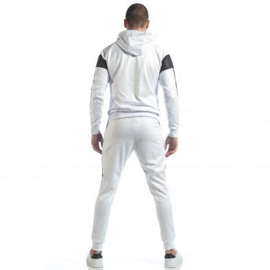 Ανδρικό αθλητικό σετ σε λευκό χρώμα ss-NB-17A-NB-17B 6