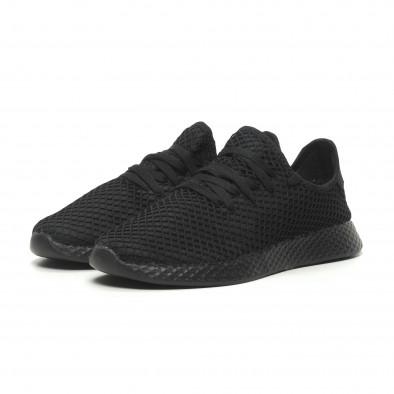 Ανδρικά μαύρα αθλητικά παπούτσια Mesh ελαφρύ μοντέλο it230519-1 3