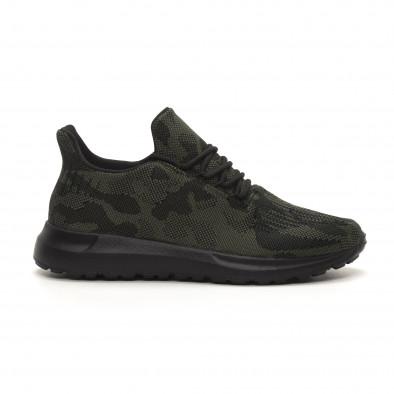 Ανδρικά πράσινα αθλητικά παπούτσια παραλλαγής it150419-120 2