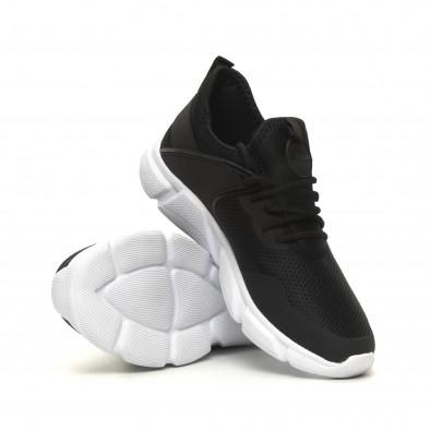 Ανδρικά μαύρα αθλητικά παπούτσια ελαφρύ μοντέλο κάλτσα it040619-6 4