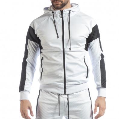 Ανδρικό αθλητικό σετ σε λευκό χρώμα ss-NB-17A-NB-17B 4