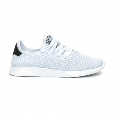 Γυναικεία λευκά sneakers Mesh ελαφρύ μοντέλο it150319-35 2