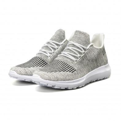Ανδρικά λευκά μελάνζ αθλητικά παπούτσια it140918-18 3