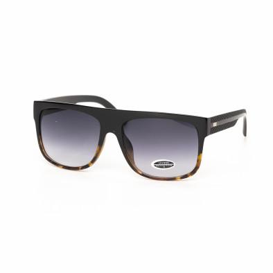 Urban ανδρικά καφέ γυαλιά ηλίου με λεοπάρ λεπτομέρειες it030519-20 2