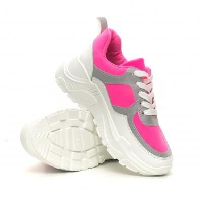 Γυναικεία Chunky ροζ αθλητικά παπούτσια it050619-59 4