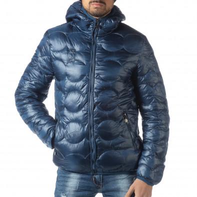Ανδρικό γαλάζιο χειμερινό καπιτονέ μπουφάν   it051218-66 2