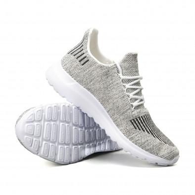 Ανδρικά λευκά μελάνζ αθλητικά παπούτσια it140918-18 4