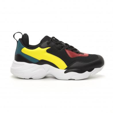 Ανδρικά μαύρα αθλητικά παπούτσια Chunky it150419-116 2