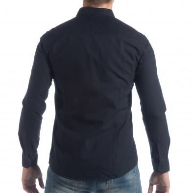 Ανδρικό σκούρο μπλε πουκάμισο Slim fit it040219-123 3