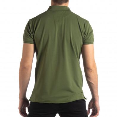 Ανδρική πράσινη κοντομάνικη πόλο Marshall Militare it210319-88 3