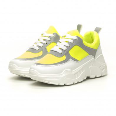 Γυναικεία Chunky πράσινα αθλητικά παπούτσια it050619-60 3