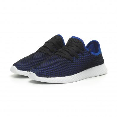 Ανδρικά μπλε αθλητικά παπούτσια Mesh ελαφρύ μοντέλο it230519-2 3