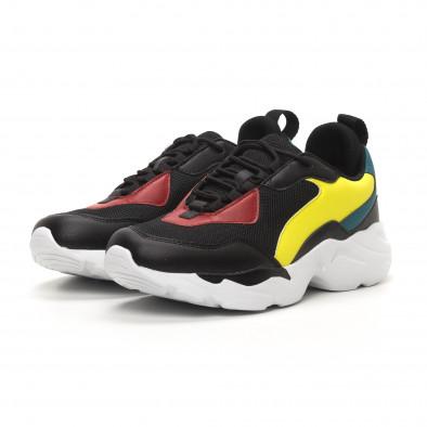 Ανδρικά μαύρα αθλητικά παπούτσια Chunky it150419-116 3