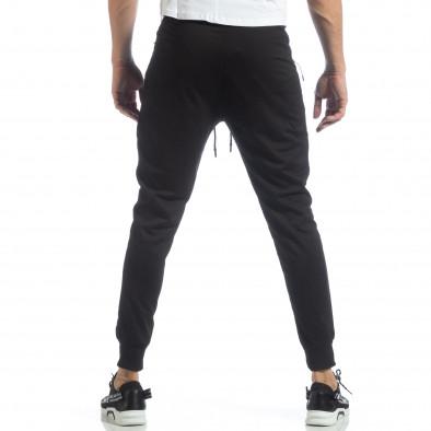 Ανδρικό Jogger Biker σε μαύρο χρώμα it040219-48 3