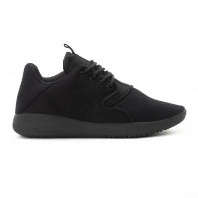 Ανδρικά μαύρα αθλητικά παπούτσια ελαφρύ μοντέλο it301118-4 2